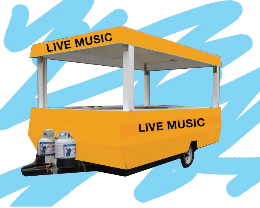 live music stage